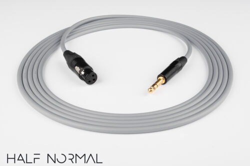 "4/' Canare L-4E6S Quad Balanced Cable Neutrik Gold XLR Female to 1//4/"" TRS Gray"