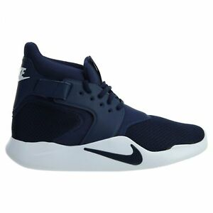 538cbb4caa00 Nike Mens Incursion Mid Top Navy Blue White Athletic Shoes 917541 ...