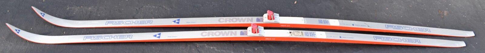 Fischer Crown 215 cm wax less cross country skis -  Salomon SNS bindings  best fashion