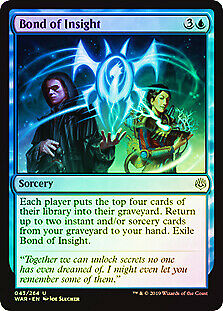 Bond of Insight FOIL War of the Spark NM Blue Uncommon MAGIC MTG CARD ABUGames