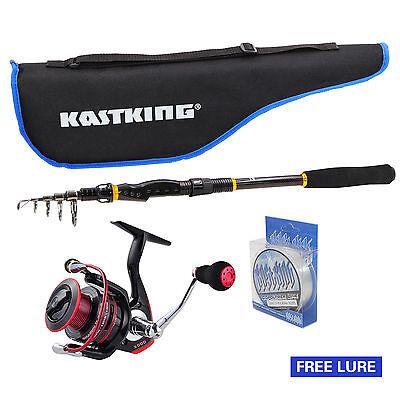 KastKing Spinning Fishing Rod And Reel Combo Package Saltwater Freshwater Kit