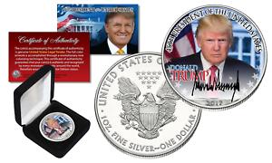 DONALD-TRUMP-Official-President-PORTRAIT-1-oz-999-U-S-SILVER-EAGLE-with-BOX