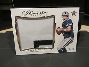 new product 38939 940ab Details about Panini Flawless Blue Game Worn Jersey Patch Cowboys Tony Romo  15/20 2015