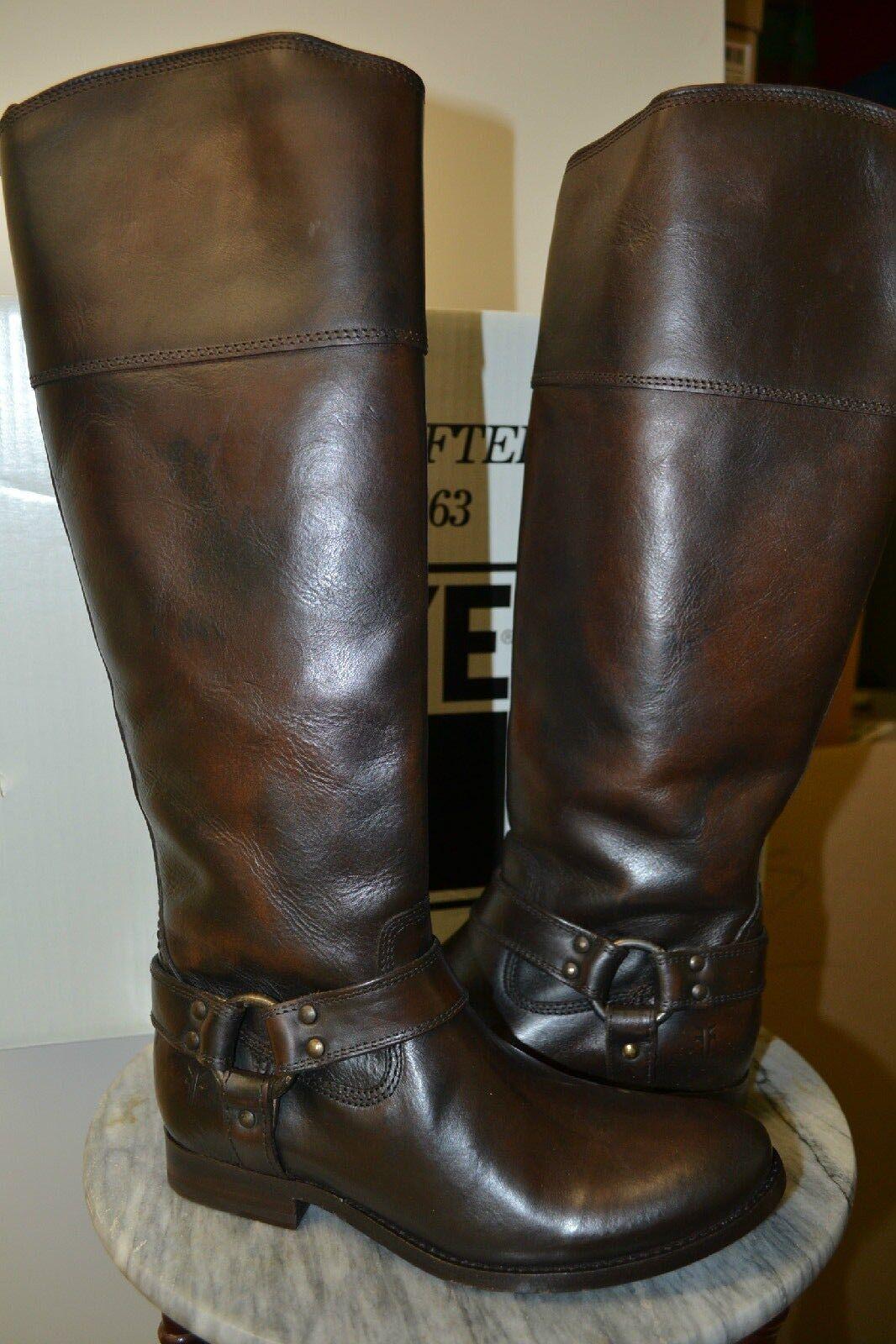 NIB Frye MELISSA Harness Inside Zip Extended Calf Riding Boots - Size 6
