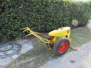 Vintage david bradley walk behind tractor sickle mower attchment sears roebuck ebay for Sickle mower for garden tractor
