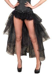 510f32764ae Long Black Tulle Burlesque High Low Bustle Over Skirt Standard Plus ...