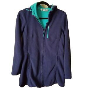 Athleta-Size-S-Swara-Microfleece-Long-Fleece-Hooded-Jacket-Purple-Turquoise-EUC