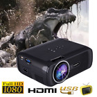 7000 Lumens 1080P Multimedia Portable HD LED Projector Home Theater Projector
