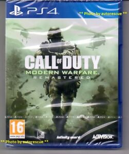 Call-of-Duty-Modern-Warfare-REMASTERED-034-New-amp-Sealed-034-PS4-Quatre
