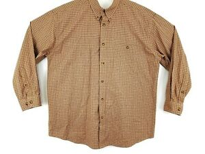 Orvis-Mens-XLT-Tall-Gingham-Plaid-Check-Long-Sleeve-Button-Down-Pocket-Shirt