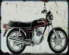 Honda Cb125T 80 A4 Photo Print Motorbike Vintage Aged