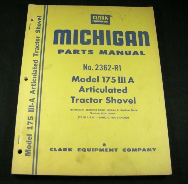 Clark Michigan Model 175 Iii A Articulated Tractor Shovel