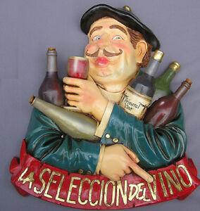 Französischer Weingeschäft Wein Werbung Weinkeller Schild Antik Nostalgie Deko