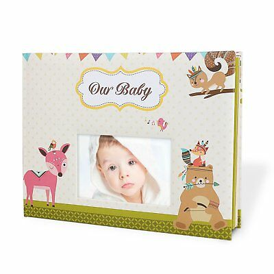 Baby Memory Book Album Personalized Scrapbook For Keepsakes Photos - Baby Shower