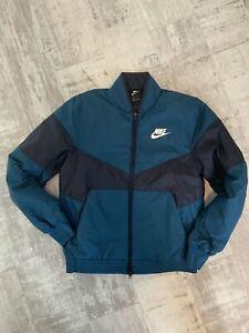 Nike-Men-039-s-synthetique-Fill-Bomber-Veste-Taille-XXL-CD9234-474-Bleu-Noir-Nouveau