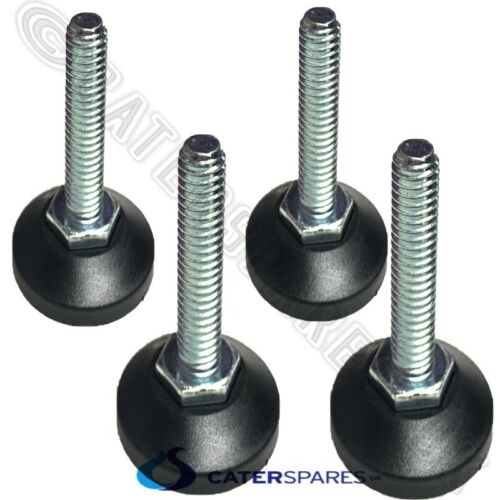M10 THREADED FEET FOOT FOR CATERING PREP WORK BENCH TABLE LEGS ADJUSTABLE X 4