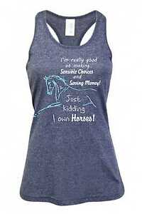 HEELS-DOWN-CLOTHING-I-OWN-HORSES-SINGLET-ALL-SIZES-AVAIL