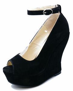 LADIES-BLACK-OPEN-TOE-SLIP-ON-WEDGE-HIGH-HEEL-PLATFORM-COURT-SHOES-SIZES-3-7