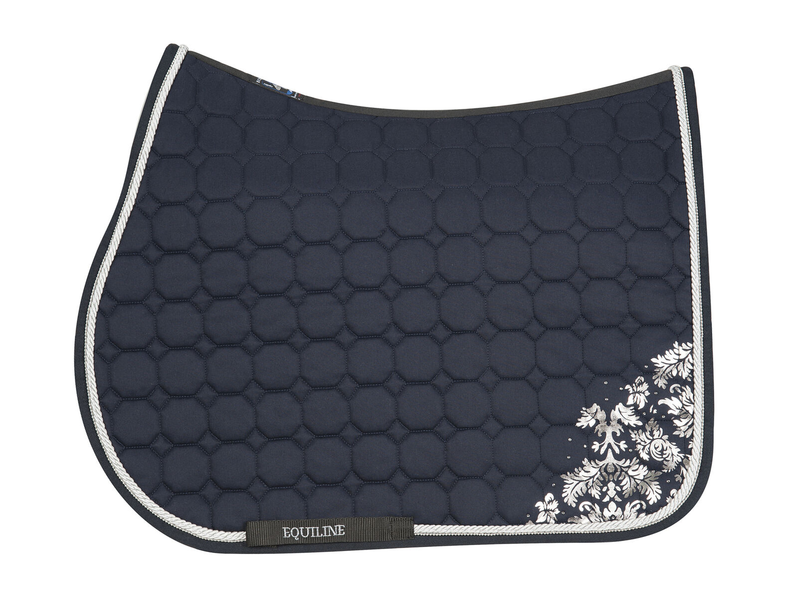 Equiline VICTORIA HORSE HORSE HORSE OCTAGONE SADDLE CLOTH azul SS 2019 a72d46