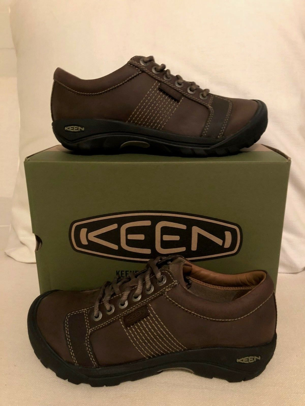 Keen Austin Chocolate Brown Shoes Loafers Men's sizes 7-17 NEW!!!