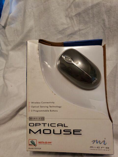 NOS~Mi Wireless Optical Travel Mouse Micro Innovations PD950P Windows ME 2000 XP