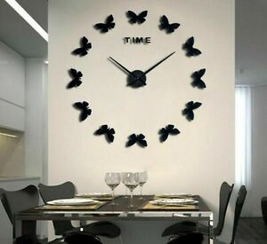 Stickers-Wall-Clocks-Watch-Butterfly-Patterned-Home-Living-Room-Decoration-Clock