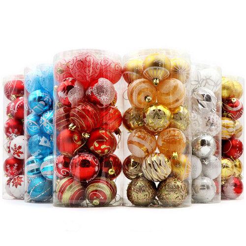 24pcs collection Décorations de Noël boules étoiles Cônes Cœurs Tree Topper