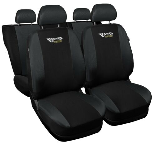 Full set car seat covers fit Toyota Auris black//grey seat cover