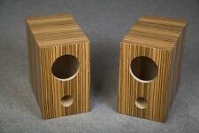 Speaker box for Fostex FE126E pair, zebrano, Bass Reflex Type
