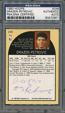 1990/91 Hoops #248 Drazen Petrovic PSA/DNA Certified Authentic Auto *2801