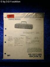 Sony Service Manual CFS 204 Cassette Corder (#0341)