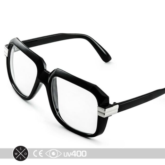 1657cfe88c74 Run DMC Old School Hip Hop Square Vintage Squared Eyeglasses Glasses S165