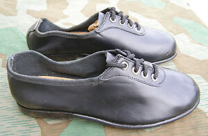 reproduction german wwii black athletic sport shoes size 7
