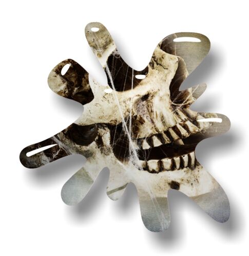 Retro Old School SPLAT /& Gothic Emo Skull /& Cobwebs vinyl car sticker decal