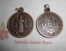 "Medalla De San Benito - St Benedict -Lg Antique Copper-tone Jubilee 1 1/4"" Medal"