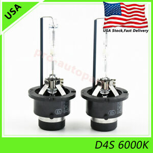 2x New D4S 6000K 35W HID Xenon Headlight Replacement for Philips or OSRAM Bulbs