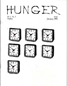 HUNGER VOL 1 NUMBER 2 JANUARY 1998 POETRY JOURNAL HUDSON VALLEY NY POETS