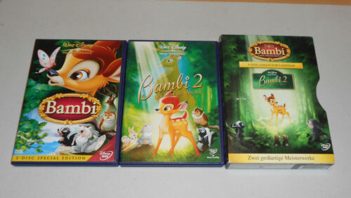 1 von 1 - DVD Box Walt Disney Bambi + Bambi 2  Z4  3-Disc Collector´s Edition  2006  NEU