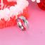 Anello-Anelli-Coppia-Fedi-Fede-Fedine-Fidanzamento-Acciaio-Cristallo-Paio-Regalo miniatura 5