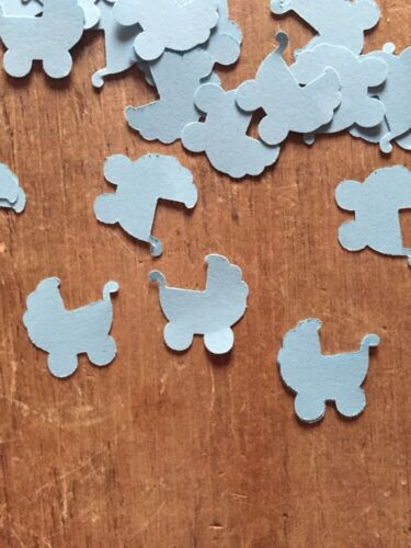 Pale Blue-200 Pieces Baby Shower table Confetti Baby Boy pram table Decorations