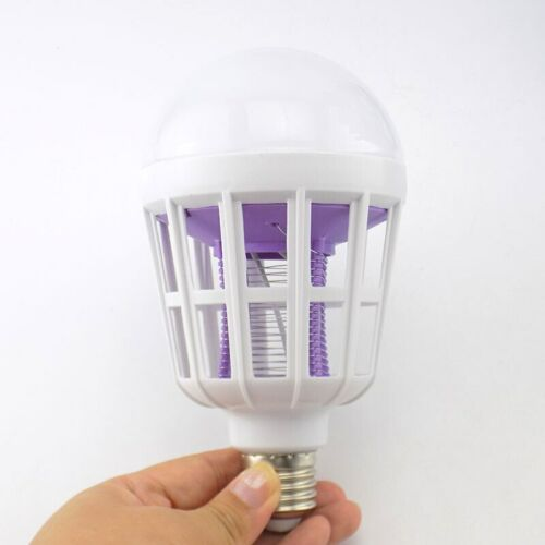 Home Mosquito Killer led Bulb 2 in 1 Light Fly Insect Bug trap Zapper Lamp E27