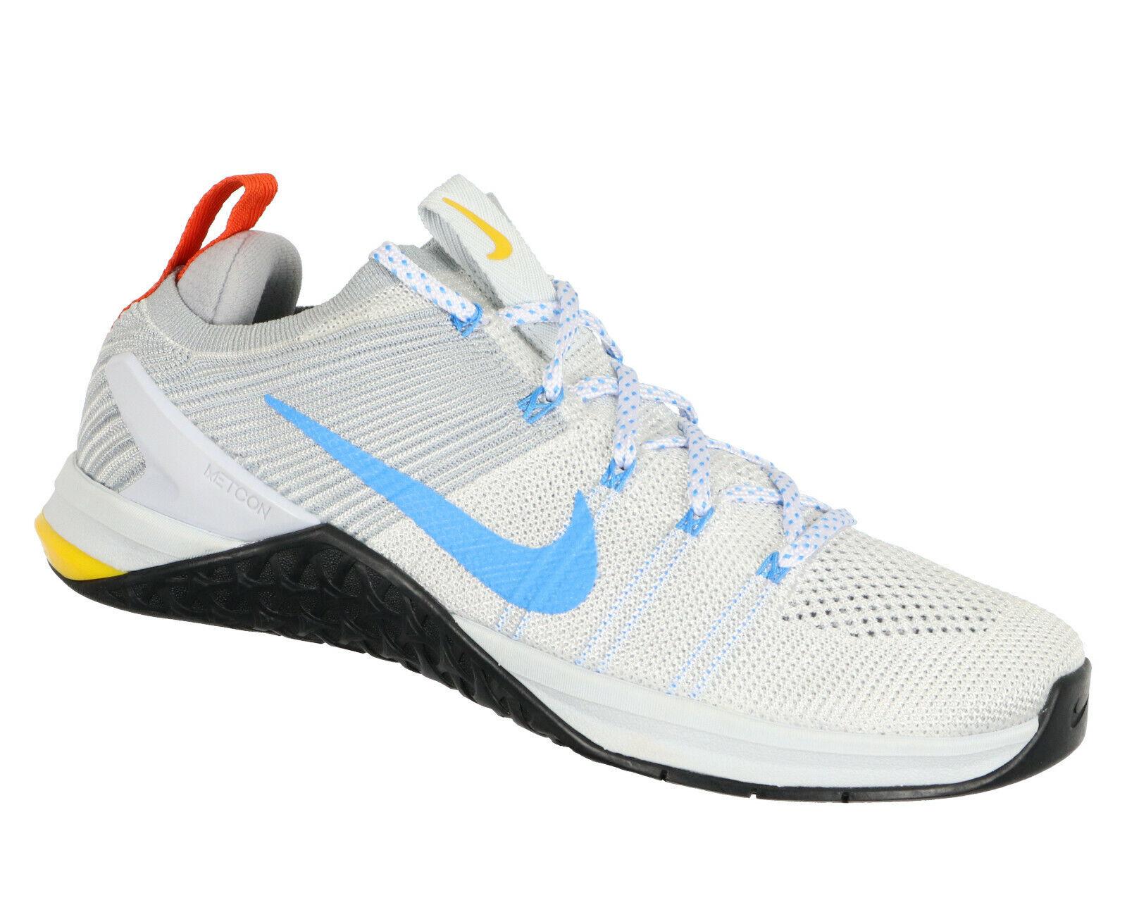 Nike Metcon Dsx Flyknit 2 Kreuz Turnschuhe Sz 10.5 Grau Blau Schwarz Turnschuhe