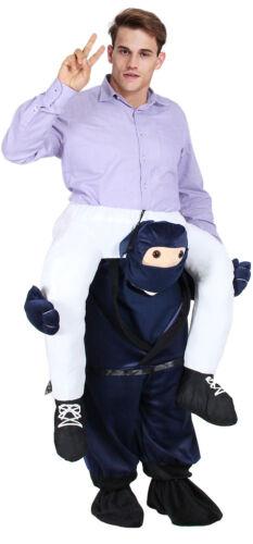 Santa Costumes Shoulder Ride on Back Fancy Dress Xmas Adult Party Unisex Snowman