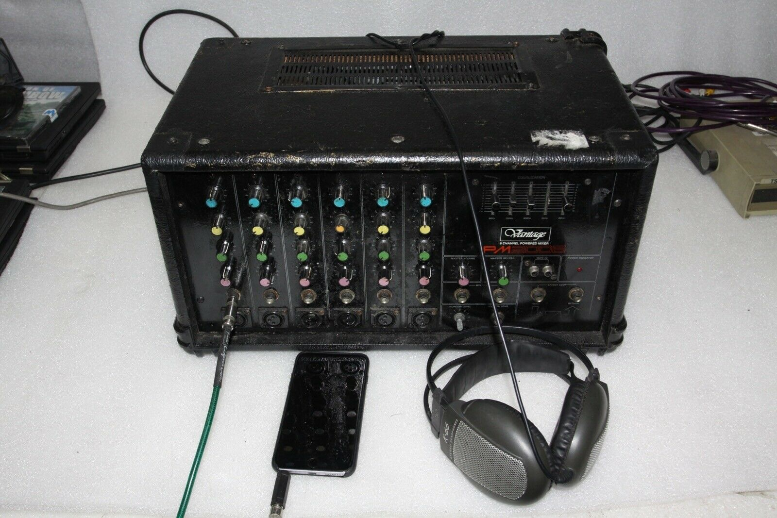 Vantage PM2006 6 Channel Powerot Mixer - Used - Minor issues