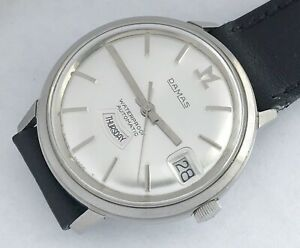 25-Jewels-Swiss-made-Damas-men-039-s-vintage-automatic-watch-mint-condition