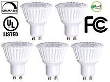 Bioluz LED 5 Pack GU10 50W Equiv Dimmable 6.5w 3000K UL listed