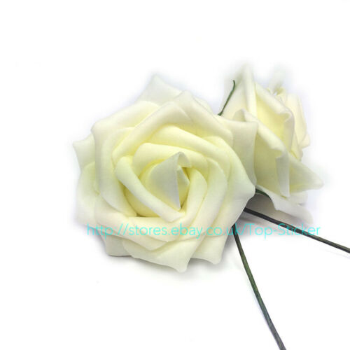New Colourfast PE Foam Rose Artificial Flower Wedding Bride Bouquet Party Decor