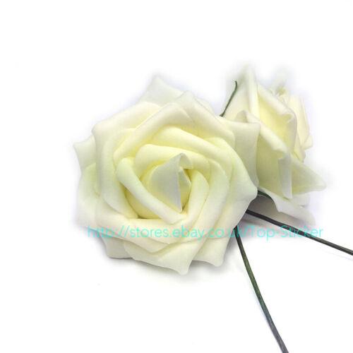 New Colourfast PE Foam Rose Artificial Flower Wedding Bride Bouquet Party Decor