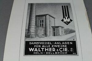 Dampfkessel Anlagen für alle Zwecke - Papier Reklame Walther & Cie ...