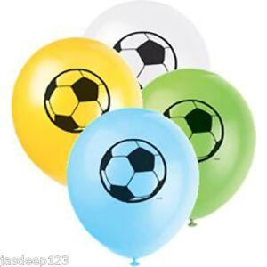 Theme-football-Ballons-Latex-Helium-garcons-football-d-039-anniversaires-8pk-Sports